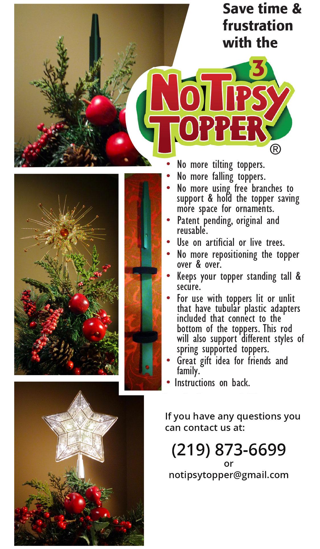 Steve Harvey Christmas Tree.Christmas Tree Topper Tipsy Topper Style 3 As Seen On