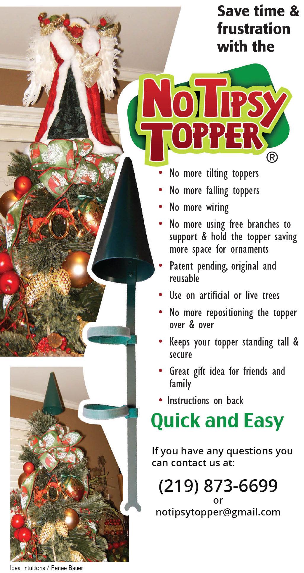 Steve Harvey Christmas Tree.Christmas Tree Topper Tipsy Topper Style 1 As Seen On